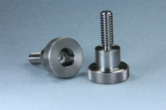 Knurled head with internal work for a special clip adapter
