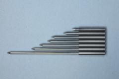Various turned pin lengths in tool steel