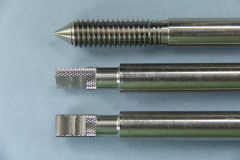 Stainless Steel - Threaded, Knurled and Milled